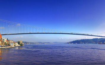 Panorama Bosporja v Istanbulu