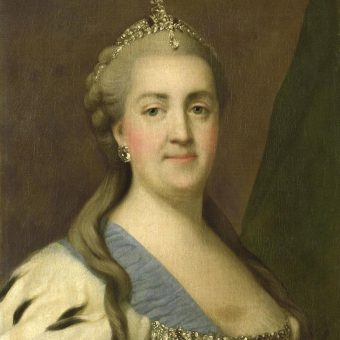 Katarina II ali Katarina Velika upodobljena okoli leta 1760