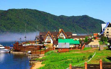 Listvijanka ob jezeru Bajkal
