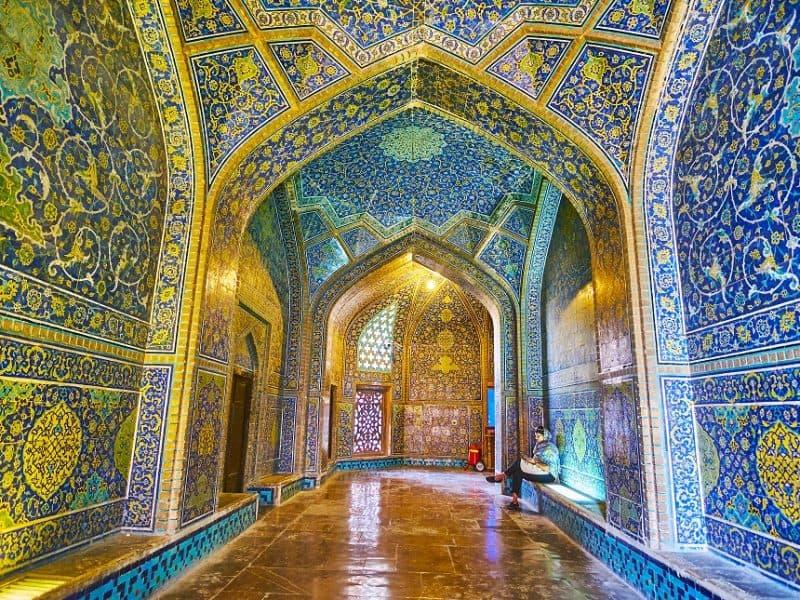 Iran in otranjost mošeje