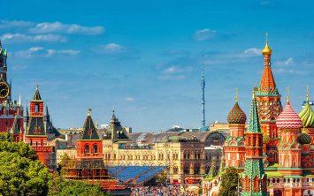 Veličastna Moskva in panoramski pogled na Rdeči trg