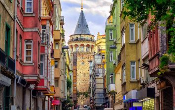 Istanbul in stolp Galata