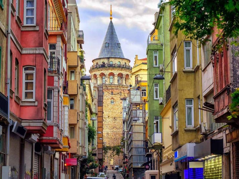 Istanbul in stolp Galata