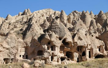 Nenavadne naravne formacije v dolini Zelve v Kapadokiji